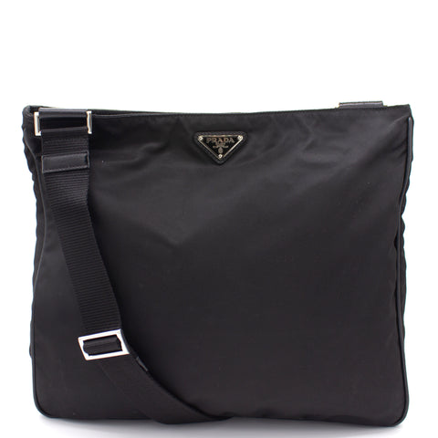 Triangular logo Nylon Crossbody Bag