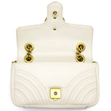 Marmont Mini Flap Bag White