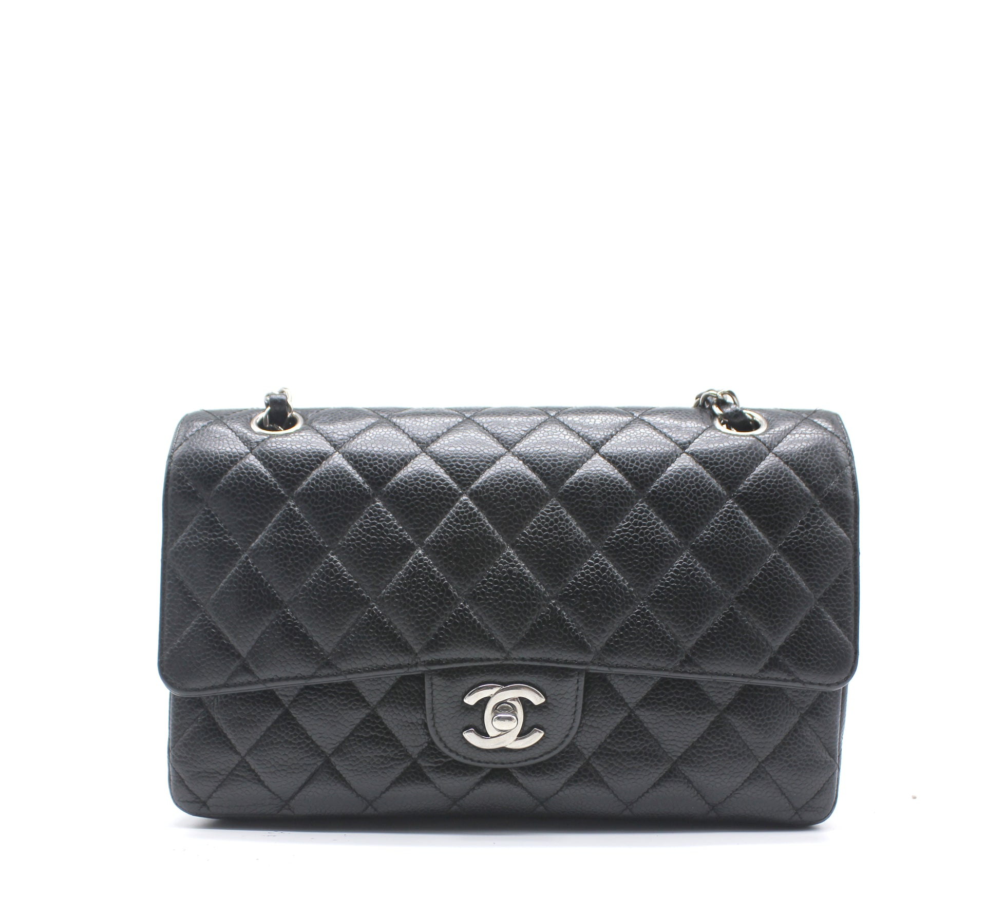 86a37718185236 Chanel Black Quilted Caviar Leather Classic Double Flap Bag – STYLISHTOP