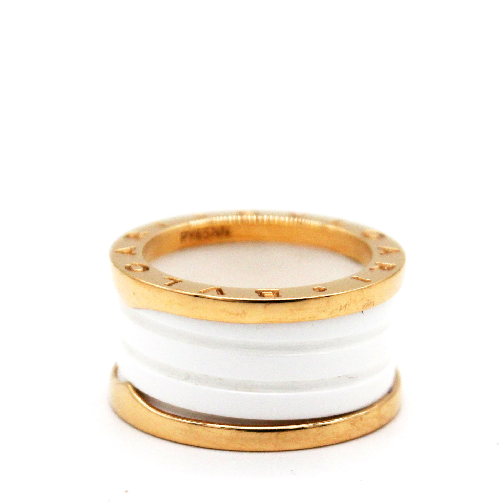 B.Zero1 Ring White Yellow Gold