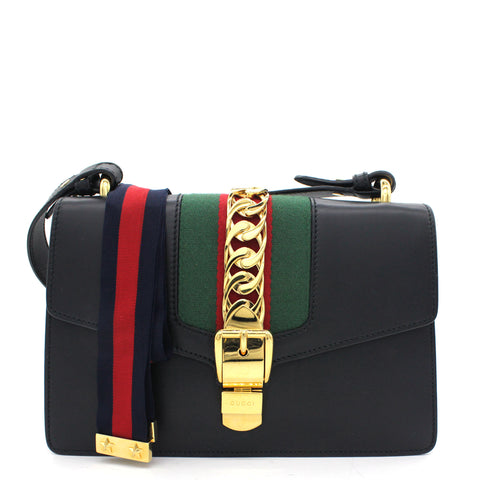 Sylvie Small Shoulder Bag Black