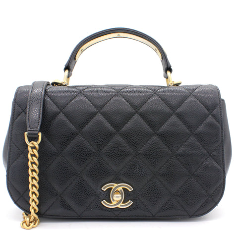 Caviar Carry Around Flap Bag Black