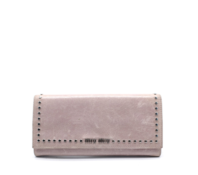 Studded Long Wallet