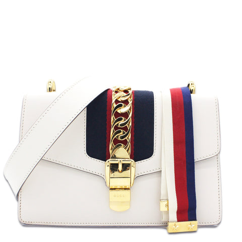 Sylvie Small Shoulder Bag White