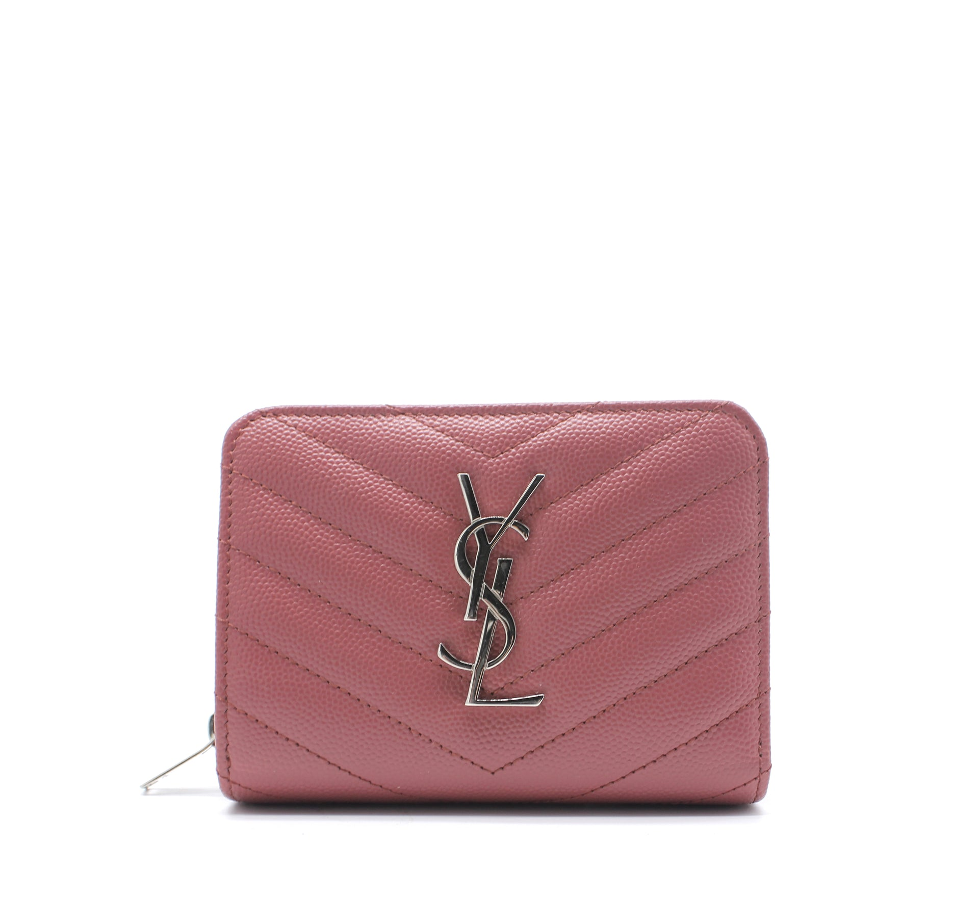 Saint Laurent Monogram zip around compact wallet