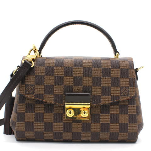 Croisette Damier Ebene Canvas Shoulder bag