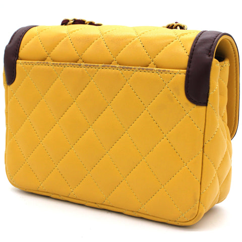 Lambskin Quilted Mademoiselle Mini Flap Bag