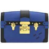 Trunk Clutch Blue Epi Crossbody Bag