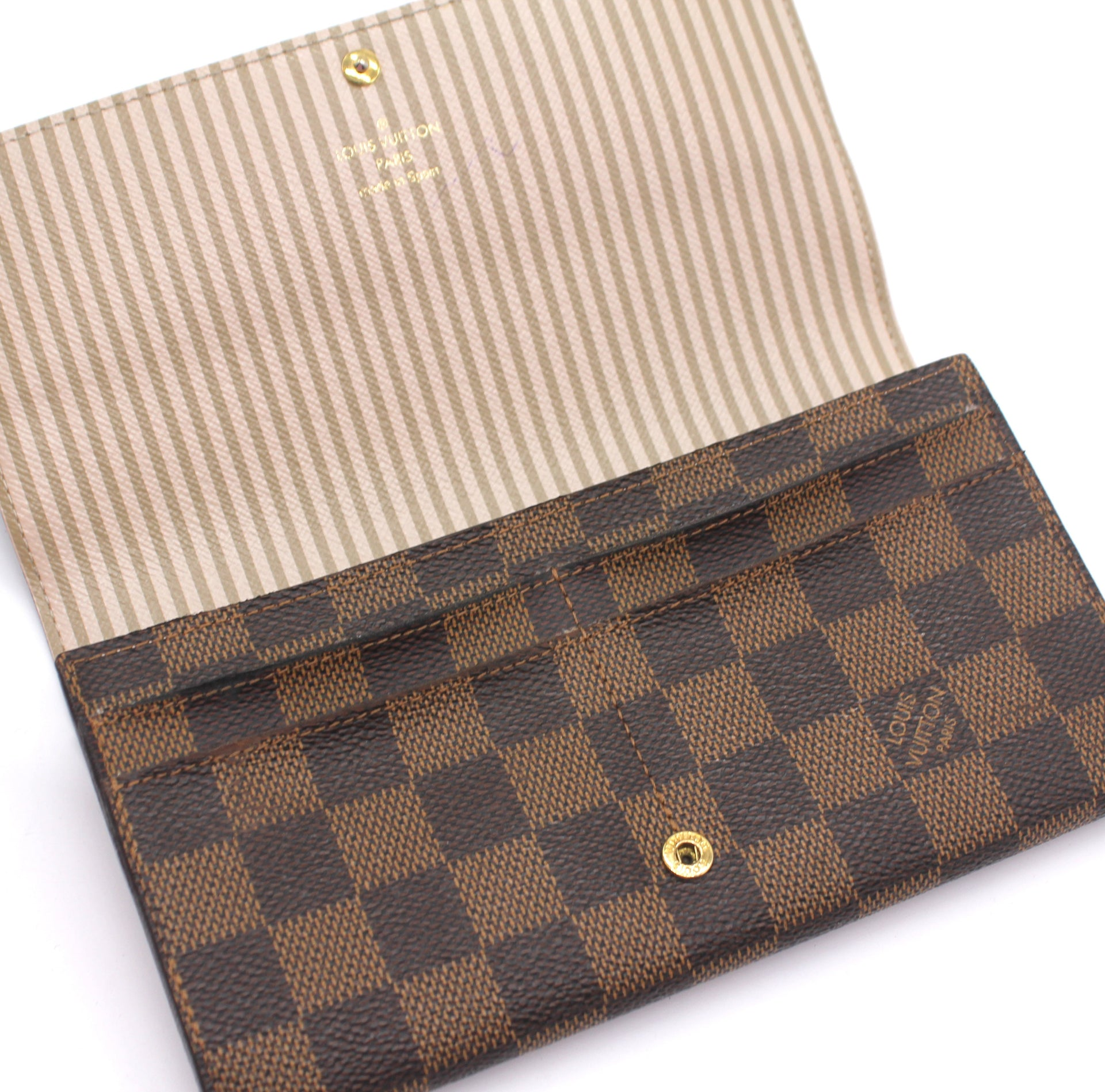 Louis Vuitton Damier Ebene Trunks and Locks Sarah Wallet