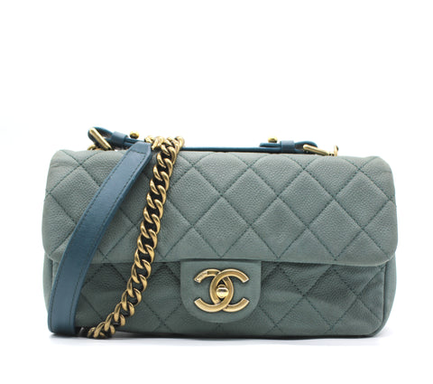 Chanel Nubuck Caviar Leather Classic Fap Shoulder Bag