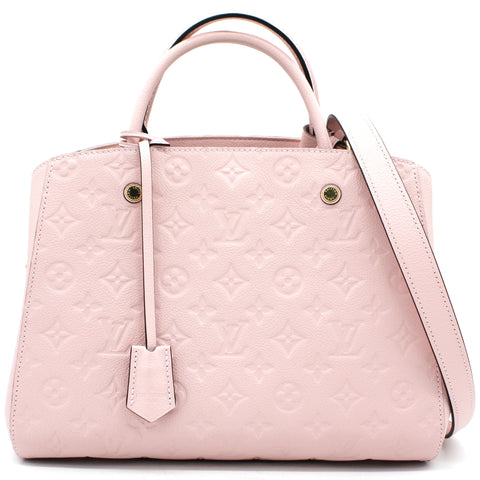 Montaigne MM Pink Monogram Empreinte Leather