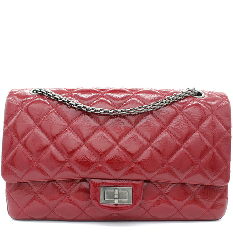 Red Quilted Patent Leather Jumbo Reissue 2.55 277