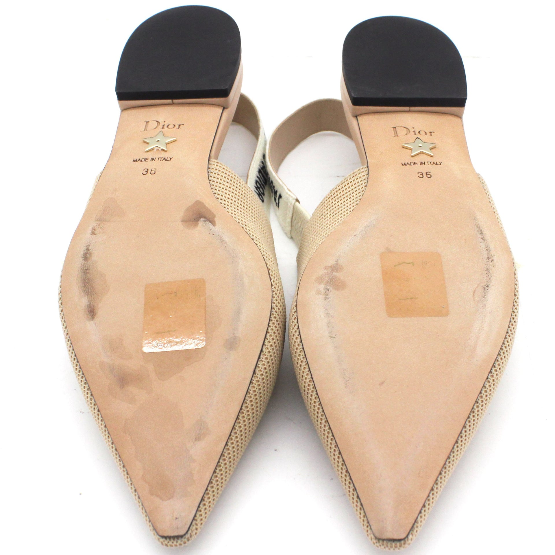 Embroidered Ribbon Sling-Back Ballet Flats