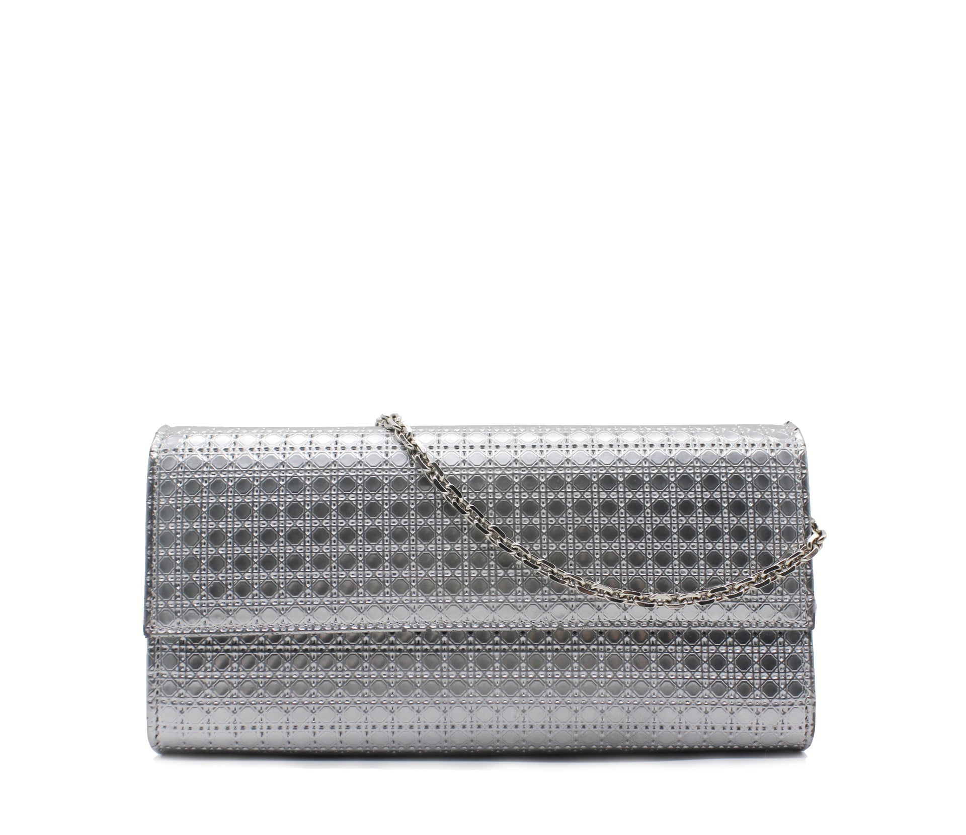 bead778ec Christian Dior Croisiere Chain Wallet Micro Cannage Perforated Calfskin