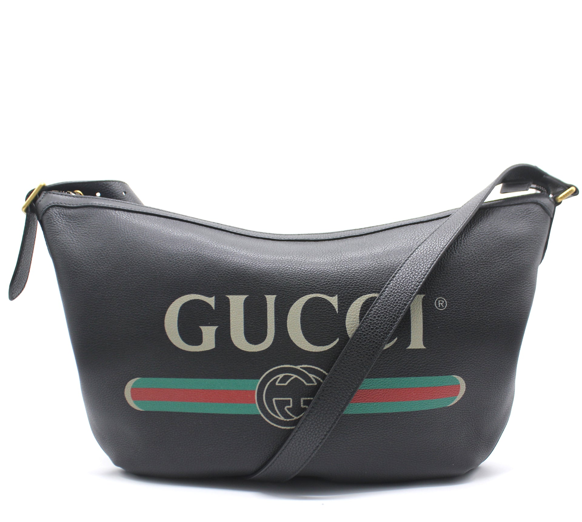 Gucci Print half-moon hobo bag