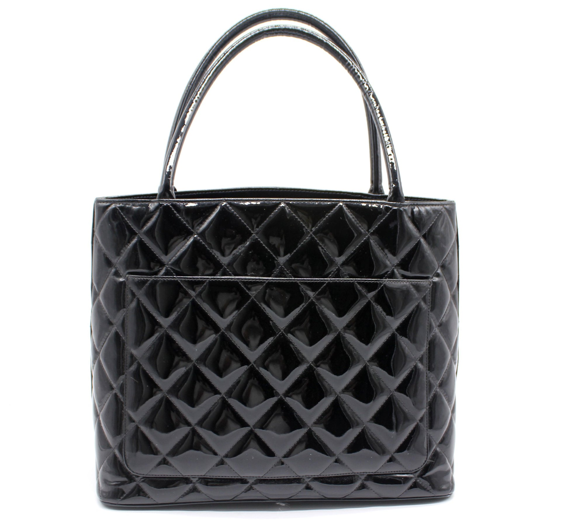 Chanel Vintage CC quilted tote bag in Patent Leather