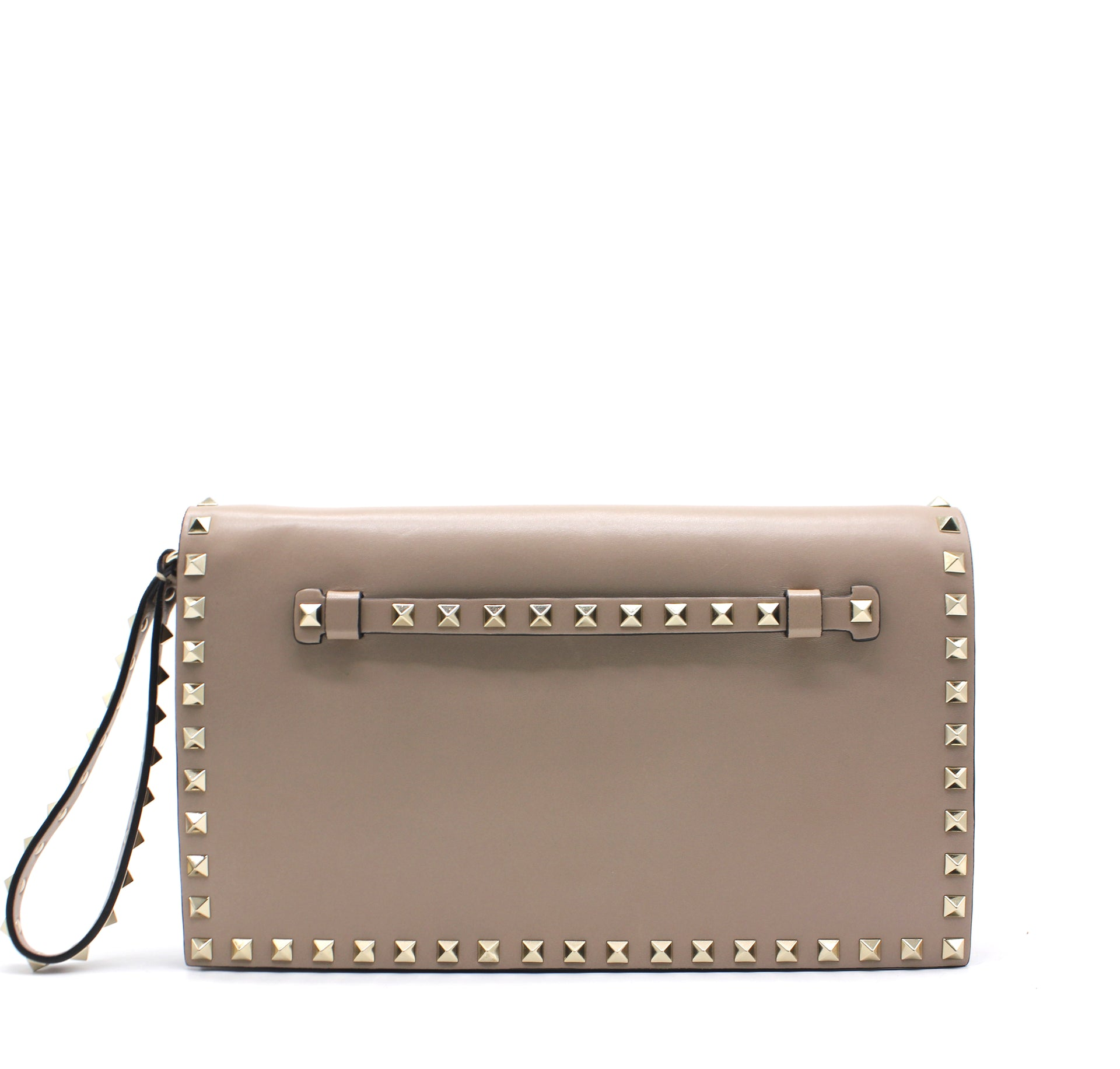 Valentino Garavani The Rockstud leather clutch