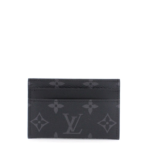 Double Card Holder Monogram Eclipse Canvas