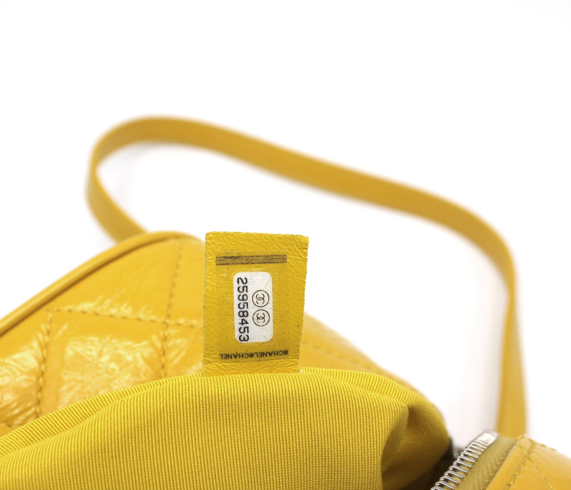 Classic Flap Crumpled Vanity and Resin Yellow Leather Pvc Backpack