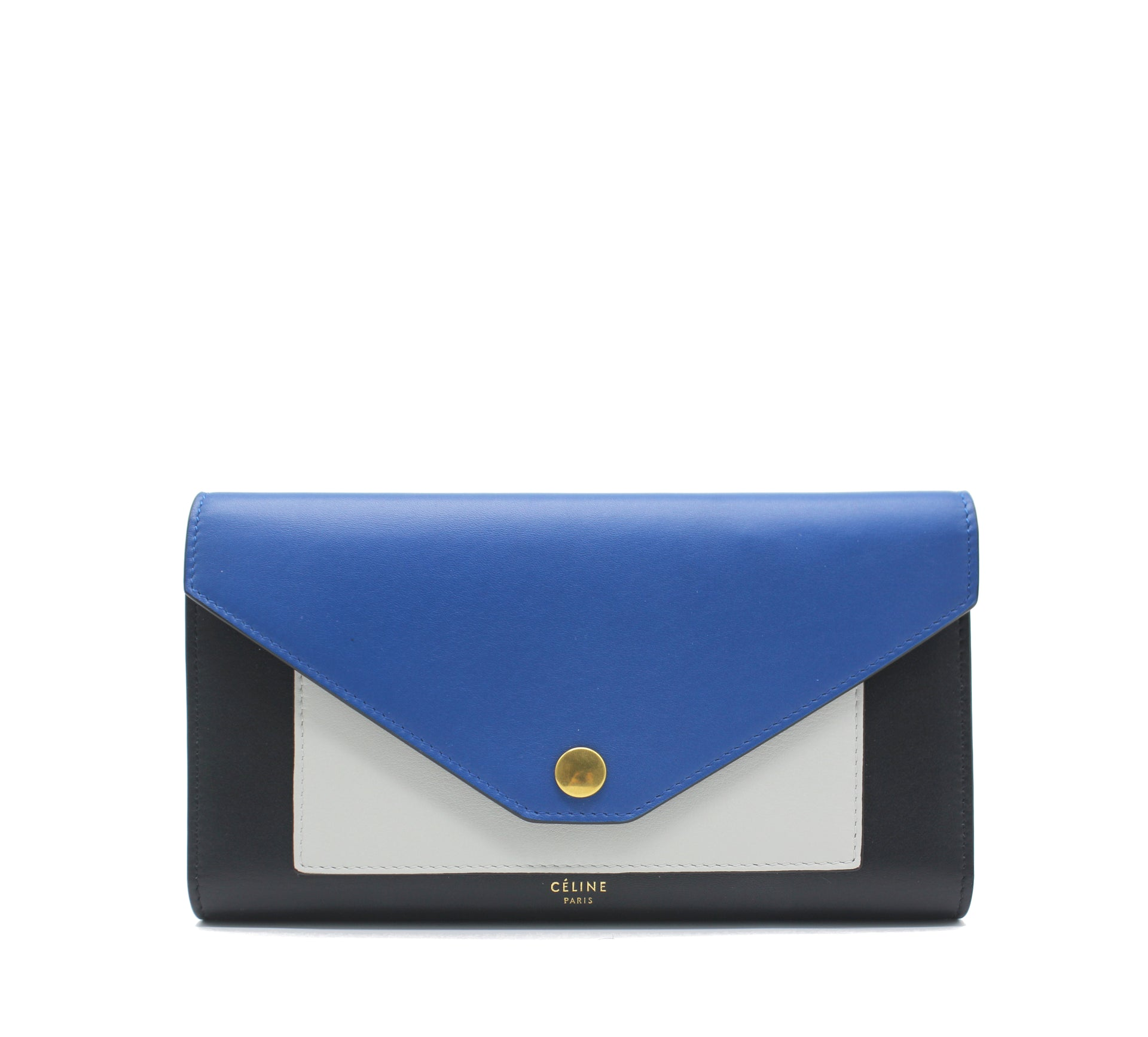 Celine Tricolor Multifunction Pocket Wallet