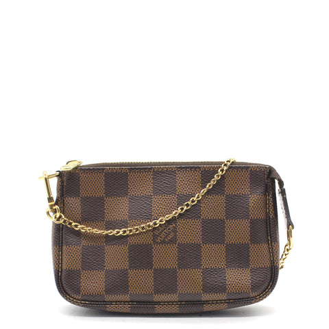Mini Pochette Accessories Damier Ebène Canvas