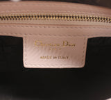 Medium Lady Dior in Light Pink Lambskin Leather