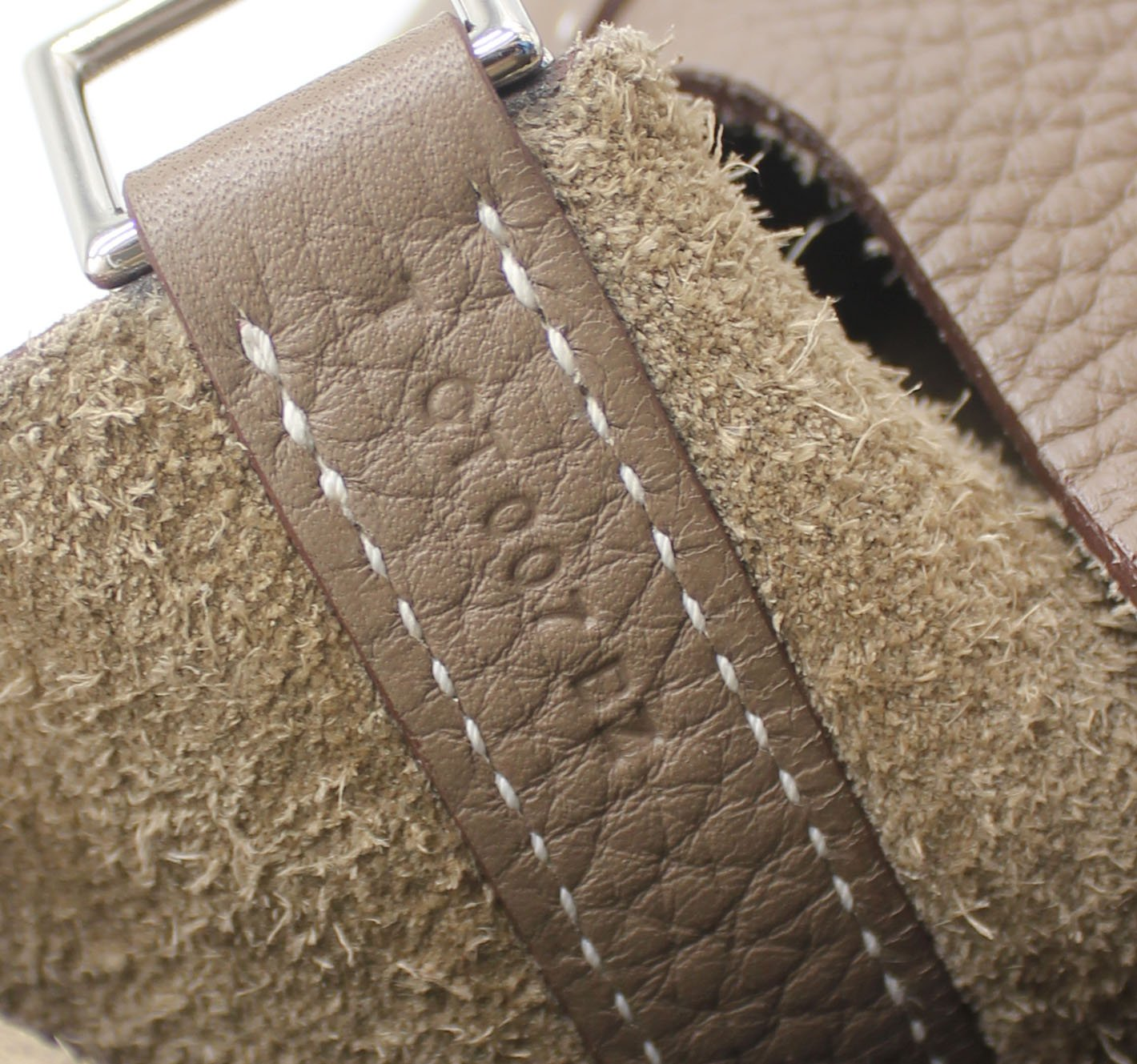 """Picotin Lock"" Bag in Etoupe Clemence Leather"