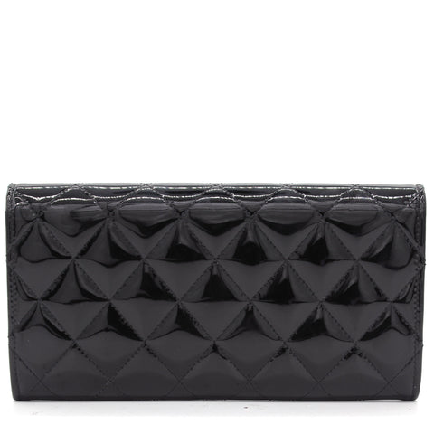 L-Yen Wallet Quilted Patent Leather Wallet