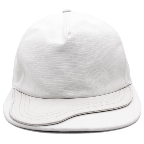 Cotton CD Buckle Baseball Cap White