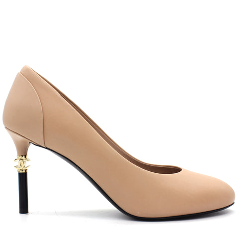 Lambskin CC Pumps
