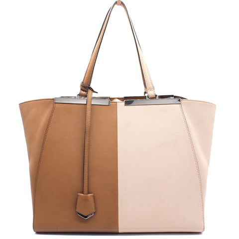 Bi Color Leather Large 3Jours Tote