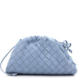 Nappa Intrecciato The Mini Pouch Blue
