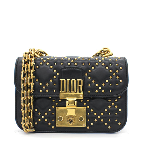 Dioraddict Studded Mini Flap Bag In Black