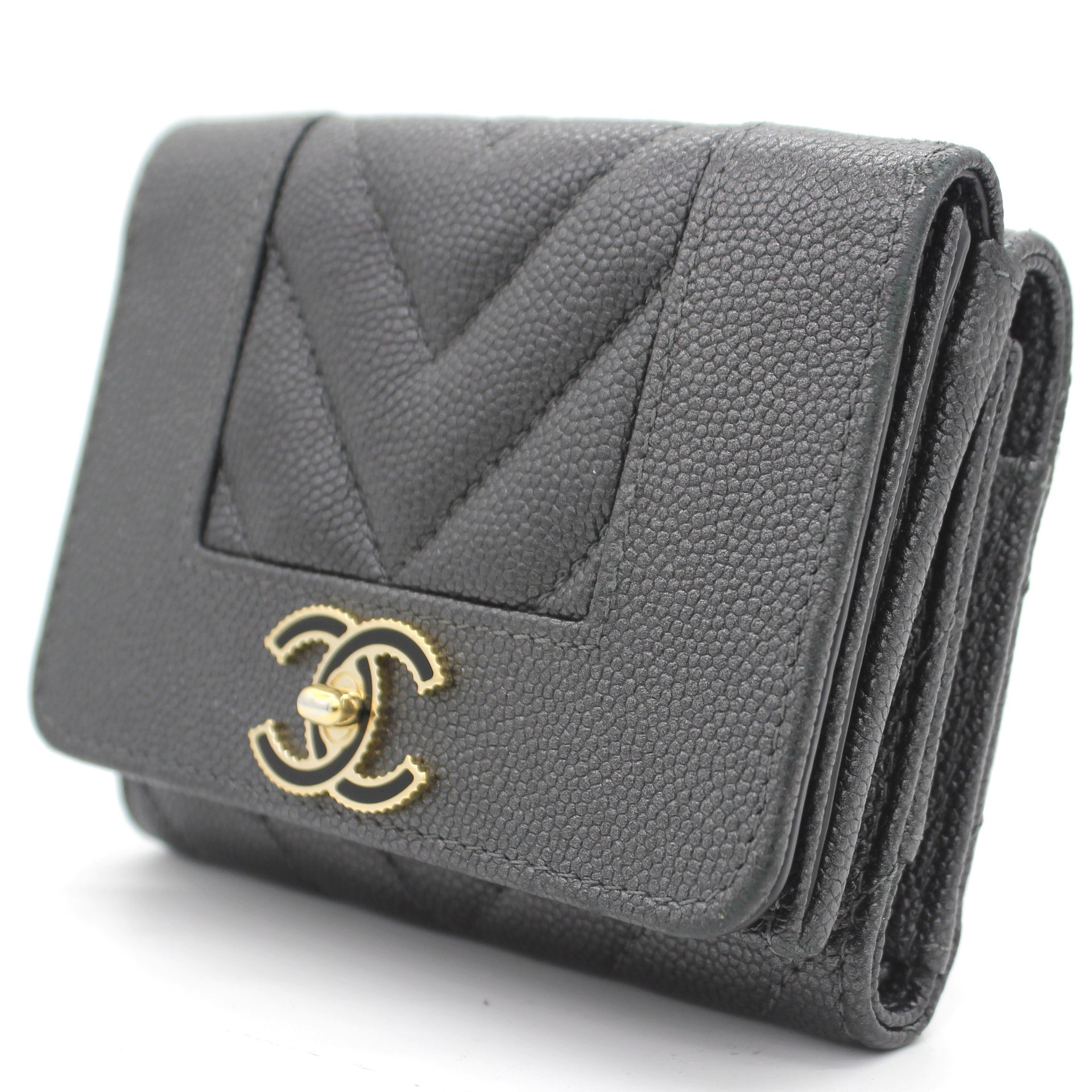 Compact Wallet Metallic Grey