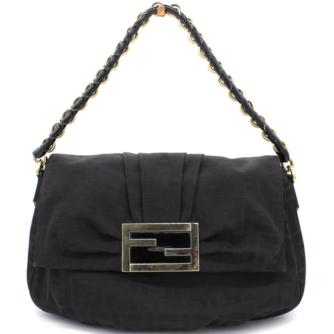Black Zucca Mia Flap Shoulder Bag