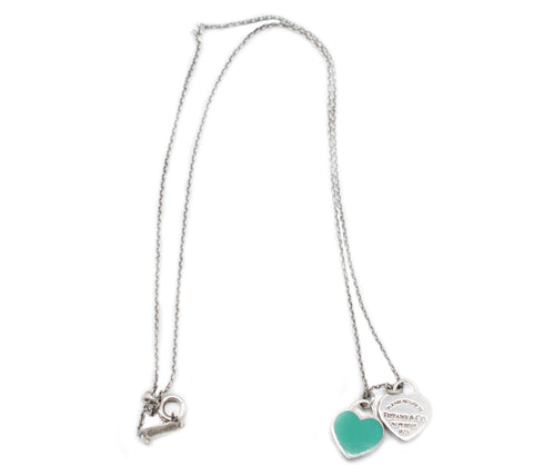 Tiffany Mini Double Heart Tag Pendant