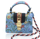 Sylvie New Flora leather shoulder bag