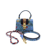 Gucci Sylvie New Flora leather shoulder bag