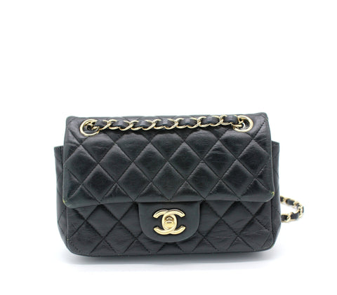 Chanel Classic Flap Mini Lambskin Black