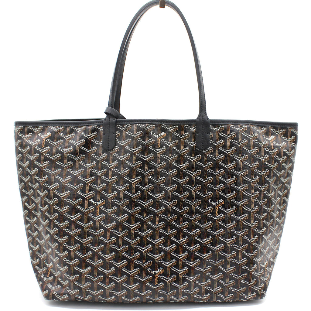Black Goyardine Coated Canvas St. Louis PM Tote