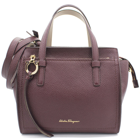 Burgundy Leather Amy Tote