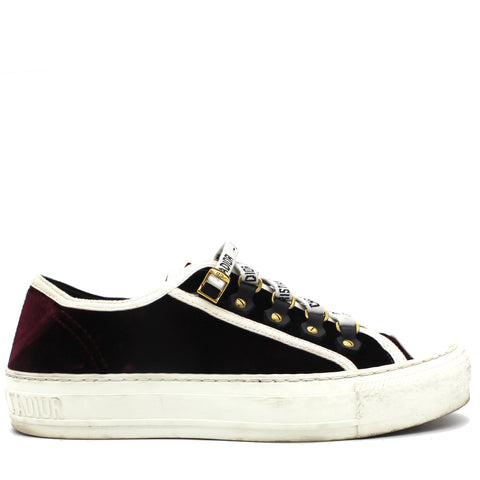 Burgundy Velvet Trim Walk'N'Dior Sneakers 36.5
