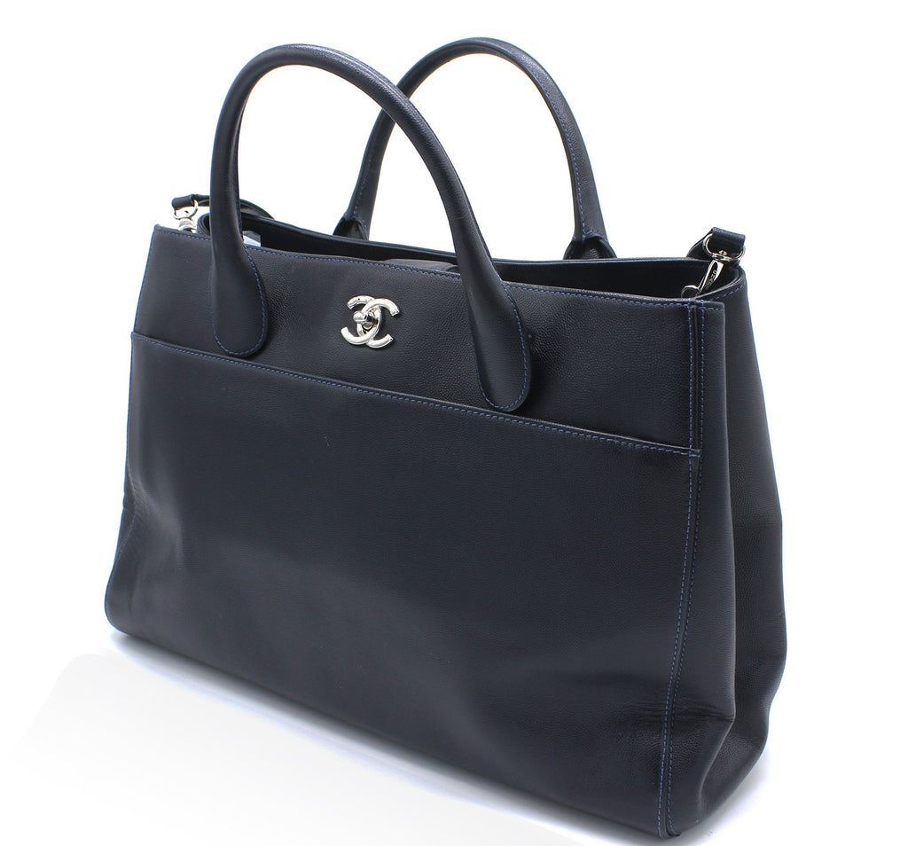 Chanel Caviar Large Cerf Executive Shopper Tote Black