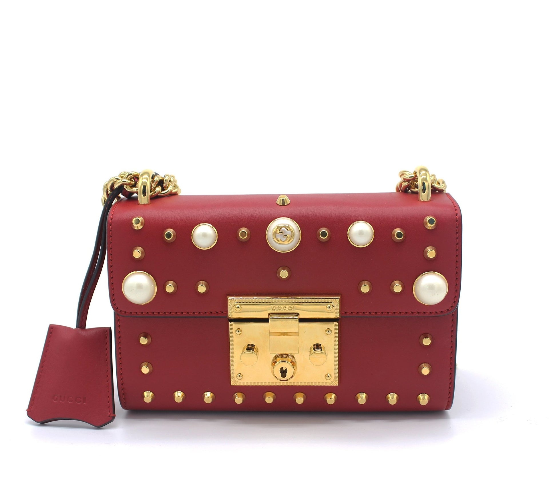 a7d6ee37f5b1 GUCCI Padlock small studded shoulder bag - STYLISHTOP