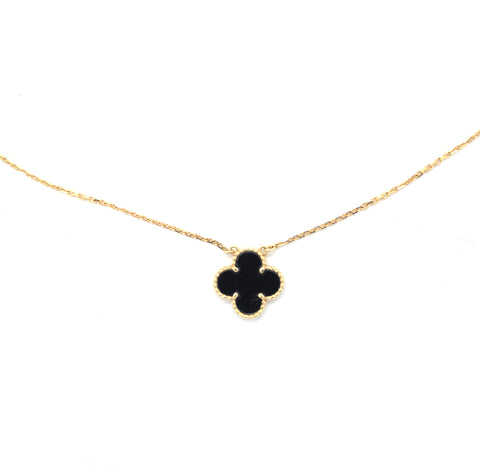 VAN CLEEF & ARPELS VINTAGE ALHAMBRA NECKLACE YELLOW GOLD