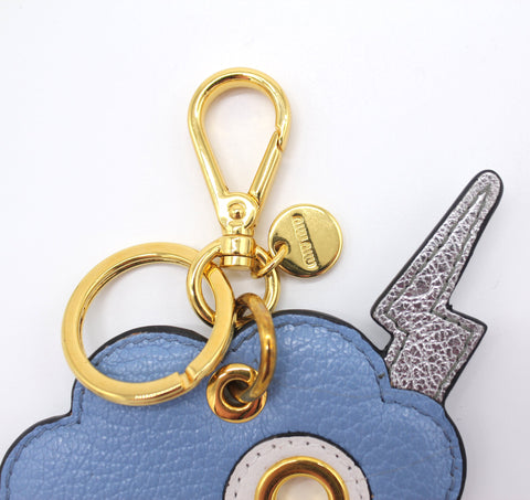 MIU MIU LIGHTNING BOLT LEATHER KEYHOLDER