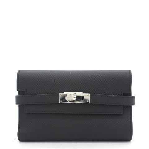 Epsom Medium Wallet Noir