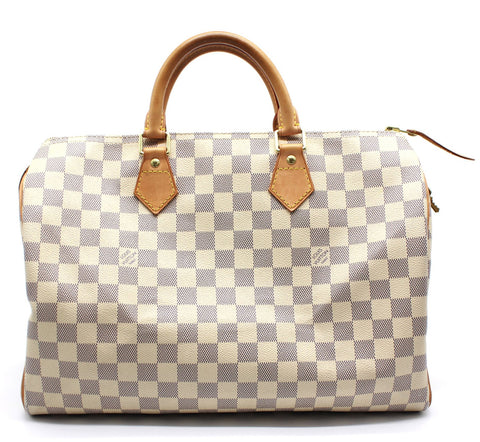 Speedy 35 Damier Azur Canvas