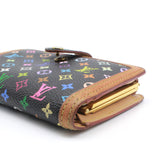 Louis Vuitton Wallet Black Monogram Multicolor