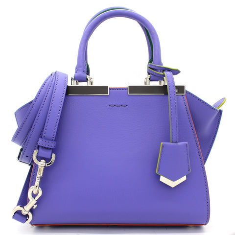 Calfskin Mini 3jours Tote Cassis